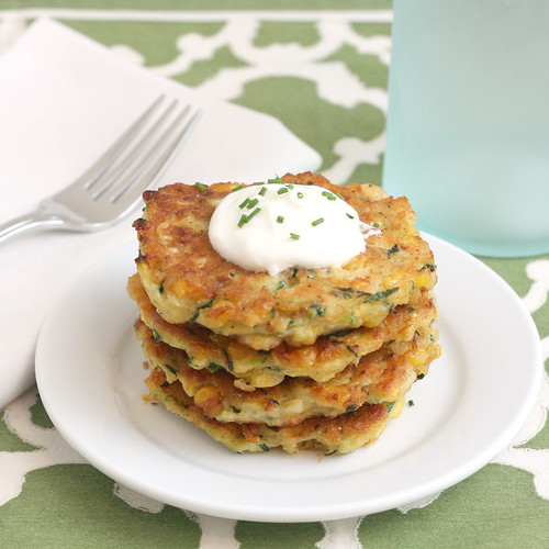 Zucchini-Corn Fritters | by Tracey's Culinary Adventures