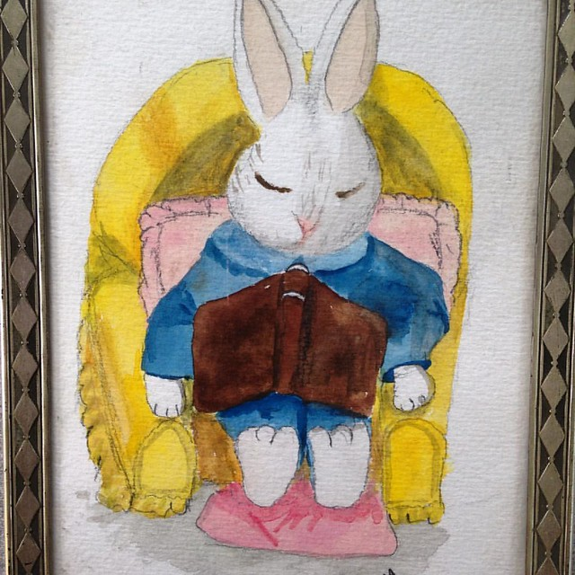 Bunny illustration from 1994 painted by iHanna #beatricepotter