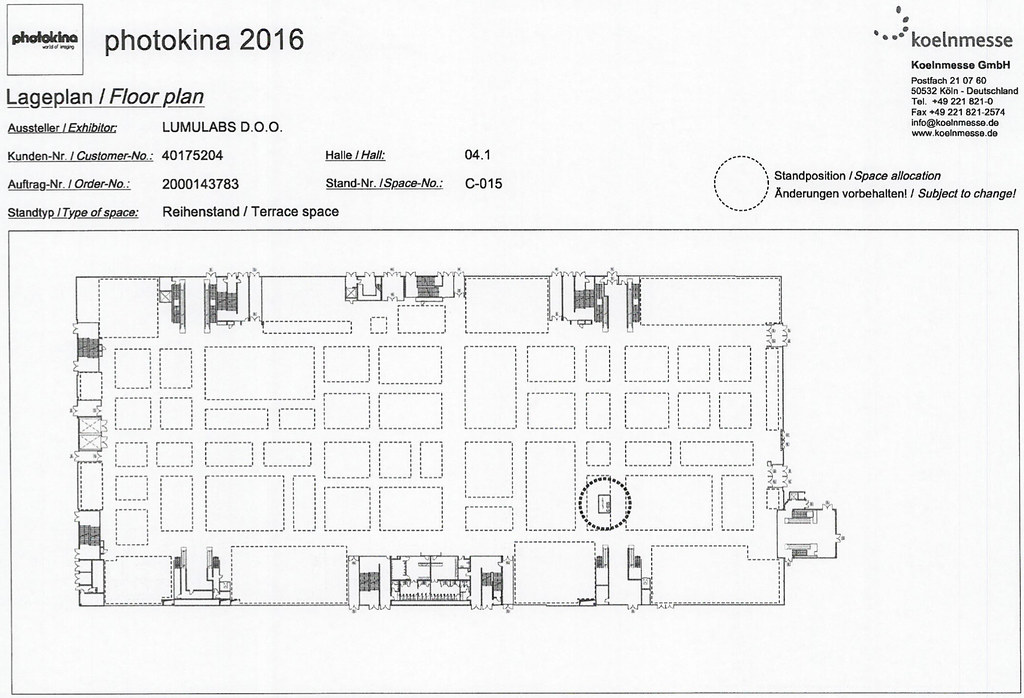 Lumulabs (Hall 4.1, C-015) Photokina 2016 location