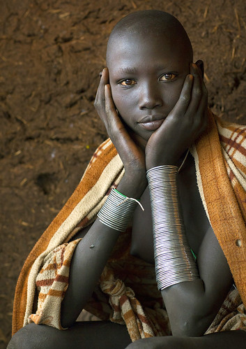 Masuli, Suri teenager girl, Kibish, Omo valley, Ethiopia | by Eric Lafforgue