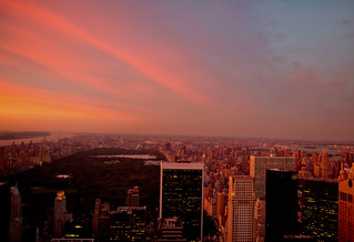 Sunset Over Central Park and the New York City Skyline | by Vivienne Gucwa
