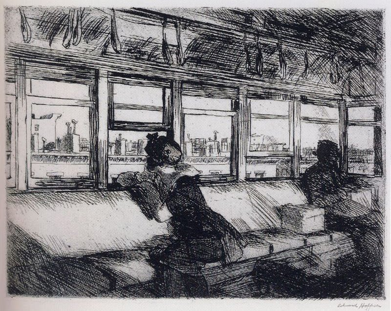 5 House Tops etching 1921 Philadelphia MoA r