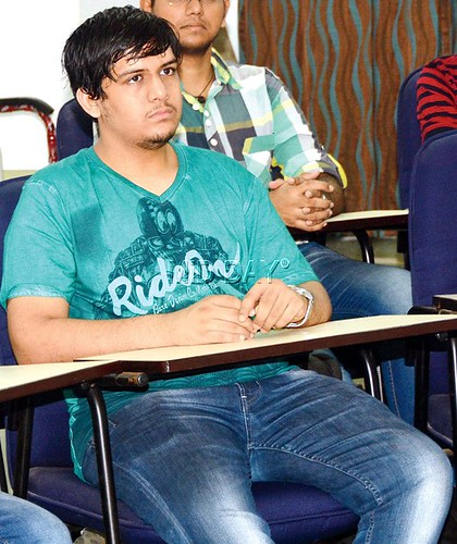 Manan Sanghvi, an engineering student at class on Buddhism. Photo from Mid-day.com