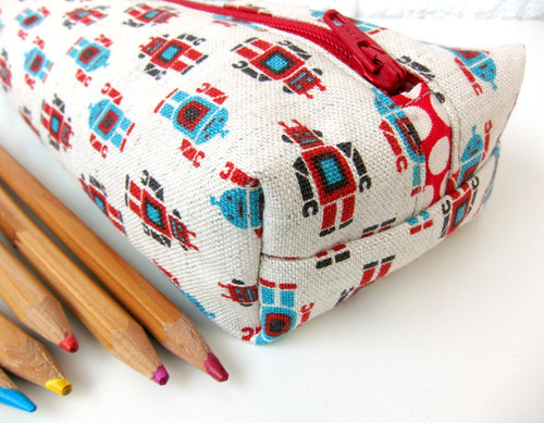 Robot pencil case | by Very Berry Handmade