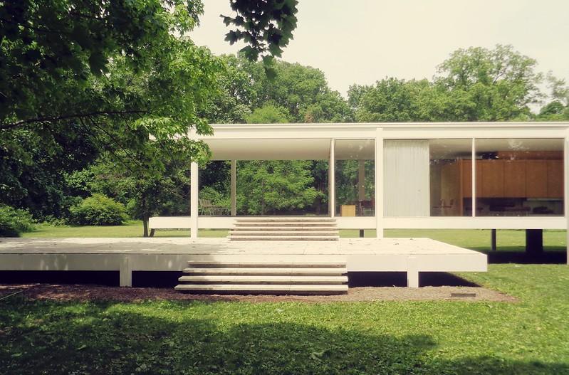 Casa Farnsworth. Plano, Estados Unidos.  Ludwig Mies van der Rohe