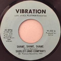 SHIRLEY (AND COMPANY):SHAME,SHAEM,SHAME(LABEL SIDE-A)