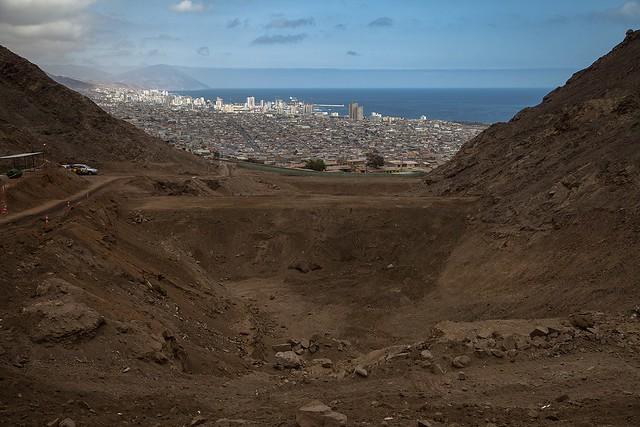 Obras de mitigación de aluviones en la Quebrada Farellones, en Antofagasta (3)