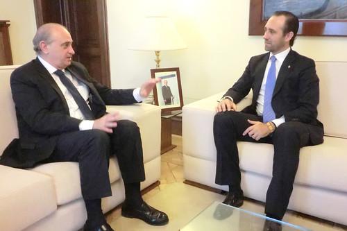 El ministro del interior jorge fern ndez d az ha recibid for Ministerio del interior llamados 2016