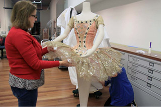 Cristina and Francesca dressing mannequin with Tutu designed by Lila de Nobili and worn by Margot Fonteyn as Princess Aurora in Act I of The Sleeping Beauty, 1968  ©Sarah Bailey Hogarty 2012 | by Royal Opera House Covent Garden