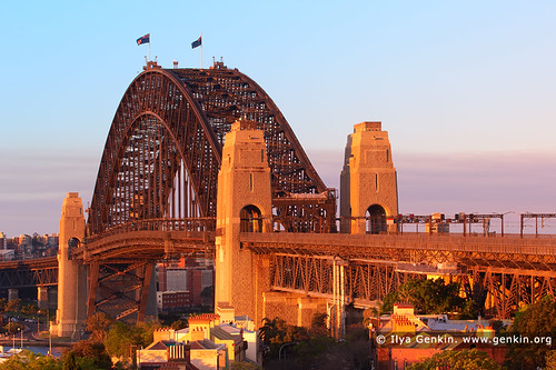 Sydney Harbour Bridge at Sunset from Observatory Hill, Sydney, New South Wales (NSW), Australia | by ILYA GENKIN / GENKIN.ORG
