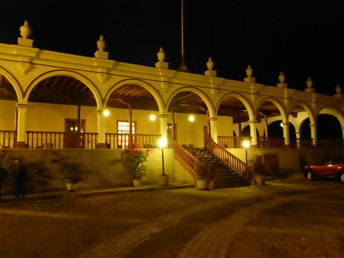 Front of the hacienda