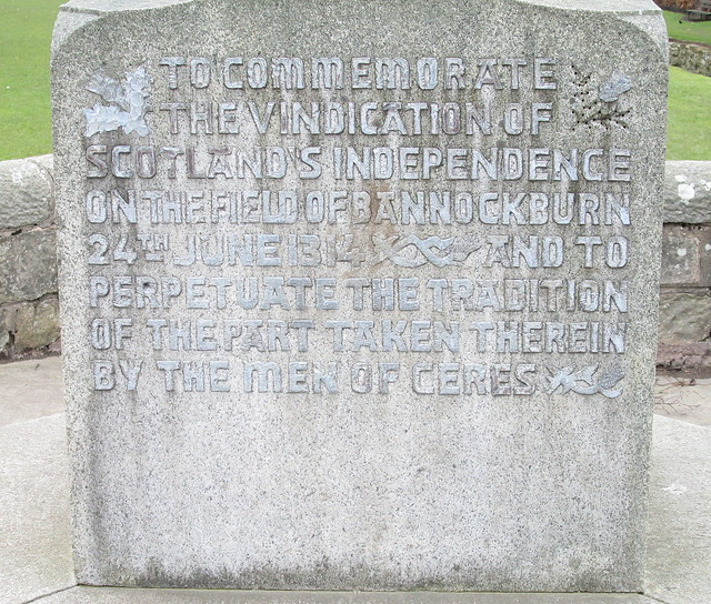 Bannockburn Monument, Ceres, Inscription