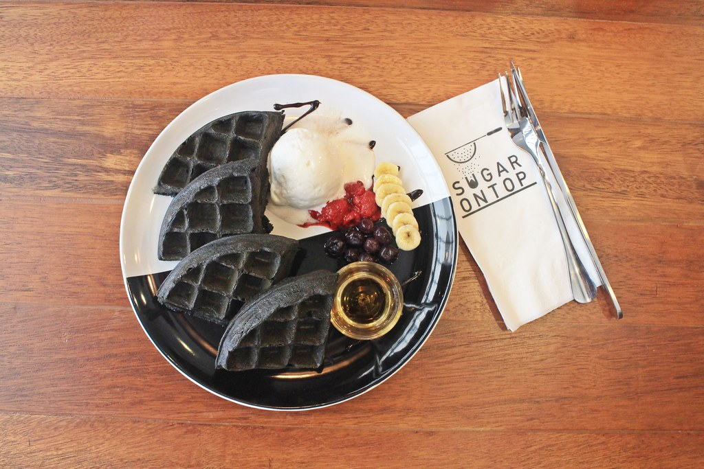 Sugar On Top around Taman Sutera: Charcoal Waffle