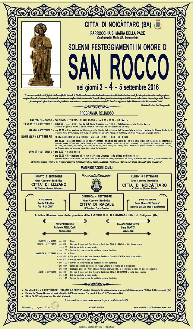 Noicattaro. Festa di San Rocco intero