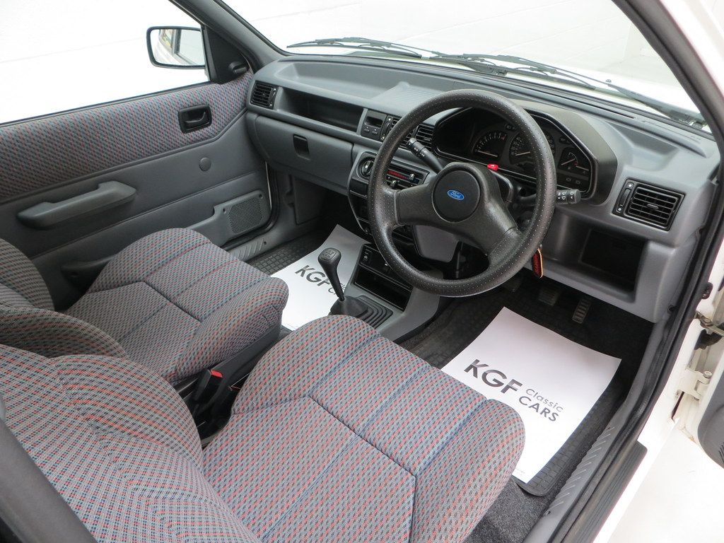 a ford fiesta mk3 1 6s with just 8 527 miles sold pe1 retro rides. Black Bedroom Furniture Sets. Home Design Ideas