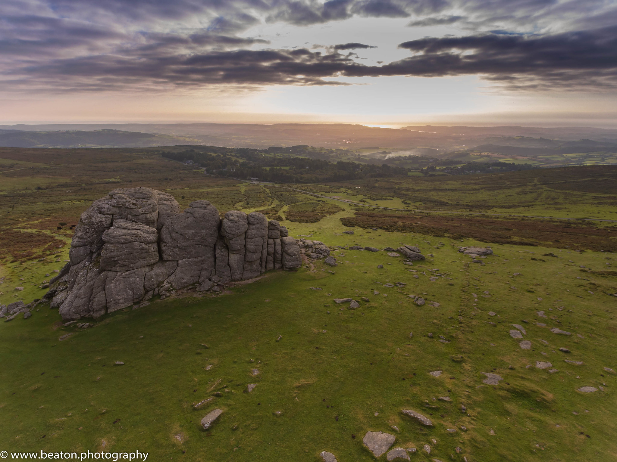 Drone Still Over Haytor