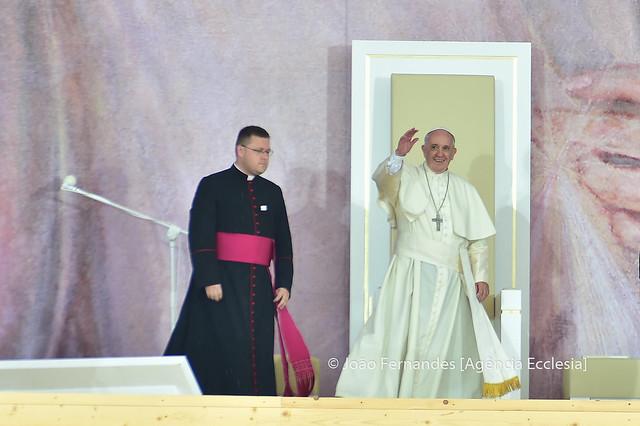 JMJ 2016 - Cracóvia - Boas-vindas Papa Francisco