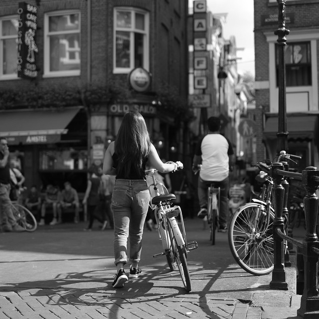 Bike at canal in Amsterdam 32