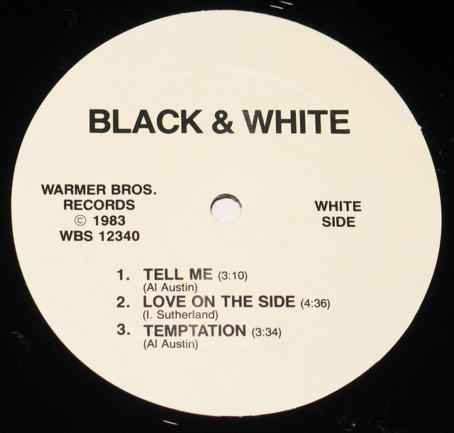 "BLACK + WHITE S/T SELF-TITLED AL AUSTIN 12"" LP"