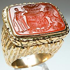 antique carnelian algiers seal ring pantherheart flickr
