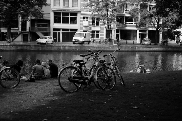 Bike at canal in Amsterdam 5