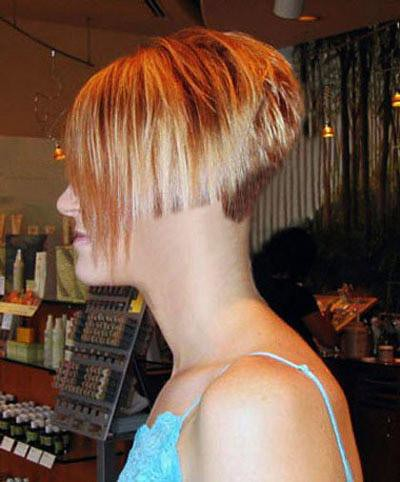 A Short Bobbed Nape Buzzed Short Haircuts Women Flickr