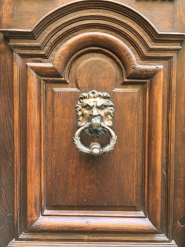 Ornate door knocker in Avignon