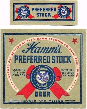Hamms-Preferred-Stock-Beer--Labels-Theo-Hamm-Brewing-Company