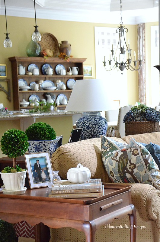 Great Room - Dining Room - Fall Blog Tour - Housepitality Designs