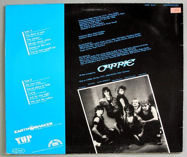 """CARRIE Secrets 12"""" LP VINYL"""