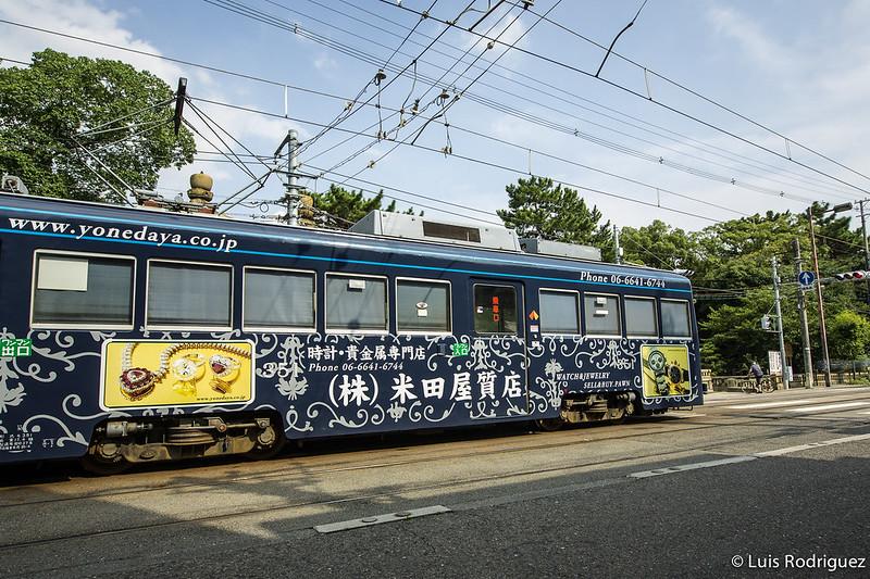 Tranvía Hankai desde Tennoji al Sumiyoshi Taisha