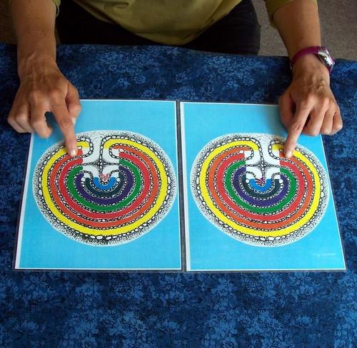 Tabletop labyrinth - balance your chakras!