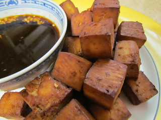 Ginger-Lime-Glazed Bean Curd