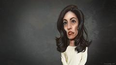 Huma Abedin - Caricature