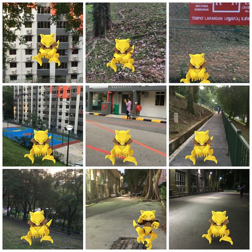 Pokemon Go training tour of Singapore: farming the Pearl's Hill City Park Abra nest