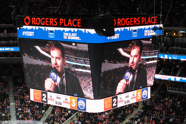 Ryan Jespersen at Rogers Place