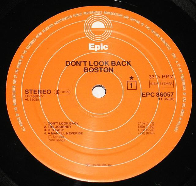 "BOSTON DON'T LOOK BACK 12"" LP"