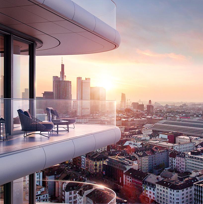 Вид на Франкфурт. Терраса небоскреба Grand Tower
