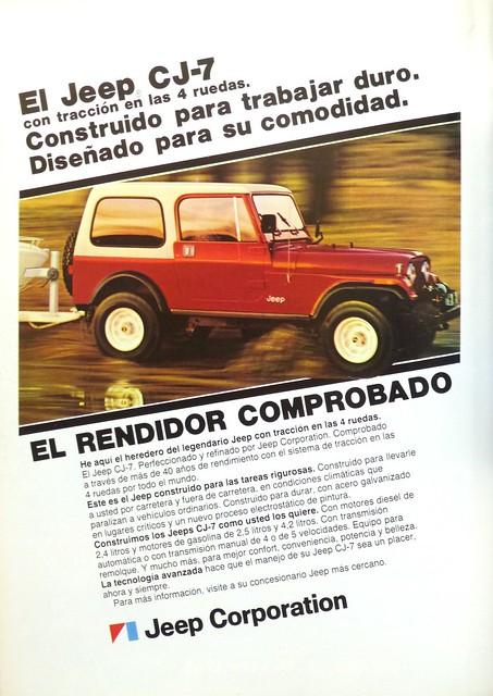 Jeep CJ-7, GeoMundo 1982
