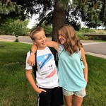 Jack's first day of middle school and Abbie's first day of 8th grade! Same school for the first time in three years. They're so excited to be reunited!