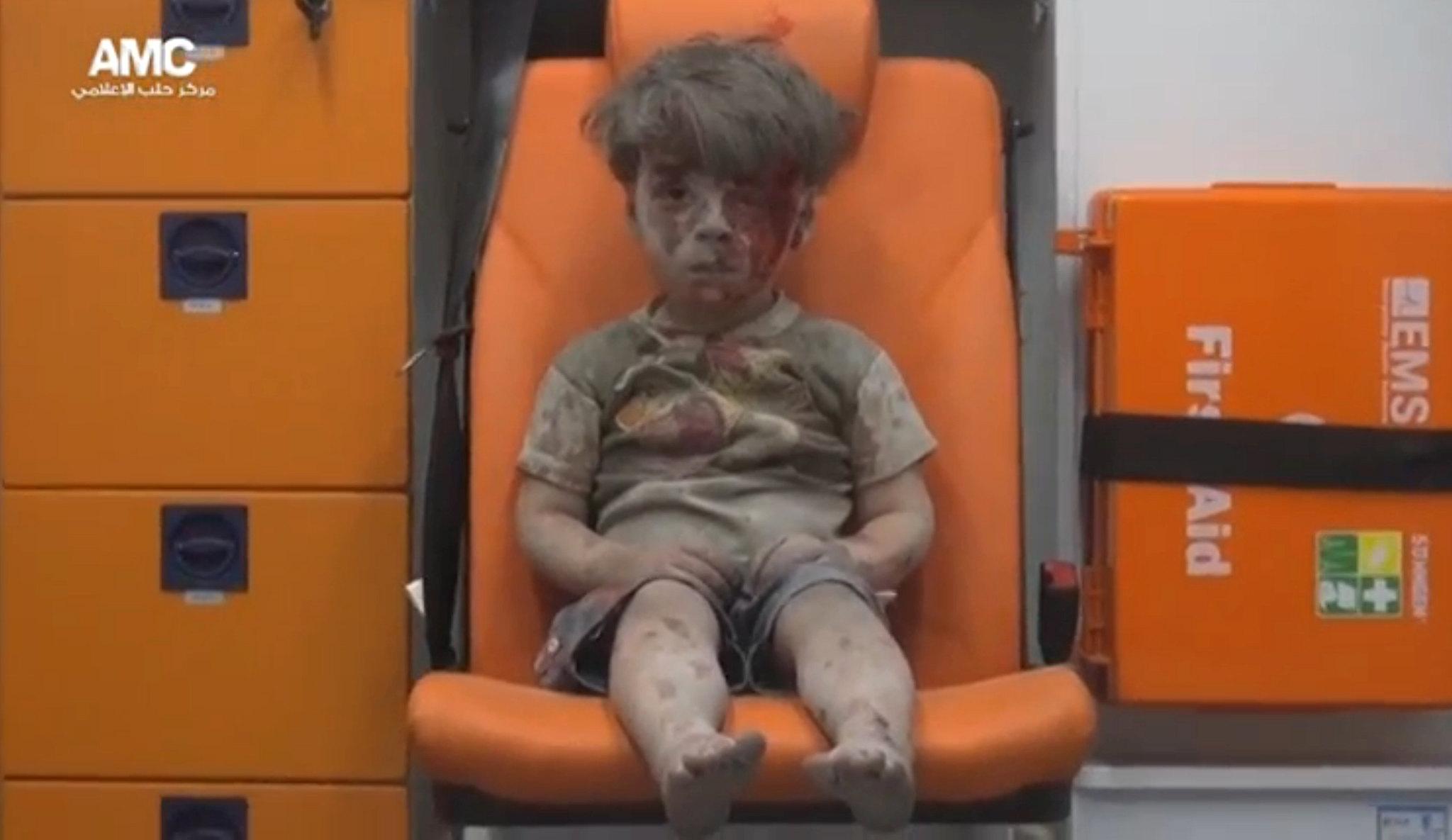 MIDEAST-CRISIS/SYRIA-ALEPPO BOY
