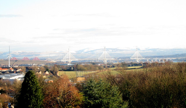 Forth Bridges from Dunfermline Abbey
