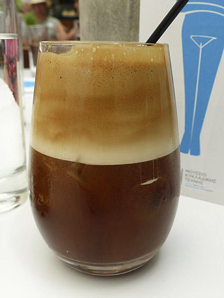 café frappé musée art cycladique