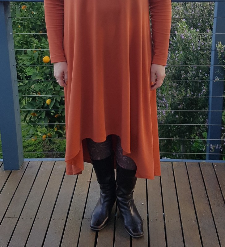 Made It Patterns Groove Dress in viscose blend knit from Clear It