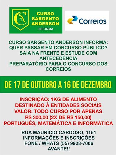 Curso Sargento Anderson - Concurso Correios