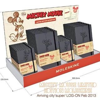 Mickey Mouse Moleskine limited edition coming out Feb 2013. City'super and LOG-ON | by Patrick Ng