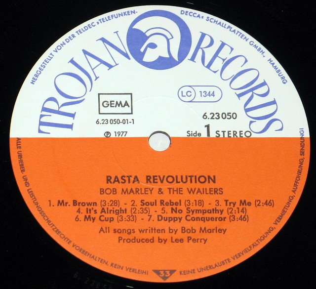 "Bob Marley & The Wailers - Rasta Revolution 12"" vinyl LP"