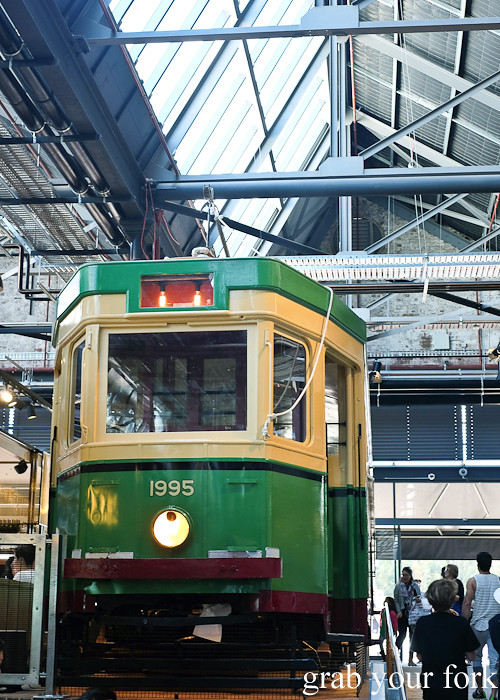 Restored Sydney R1 Tramcar at the Tramsheds Harold Park