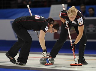 Penticton B.C.Jan12_2013.World Financial Group Continental Cup.Team North America,lead Laine Peters,second Jessica Mair.CCA/michael burns photo | by seasonofchampions