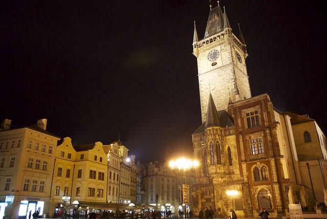 プラハ、中央広場より